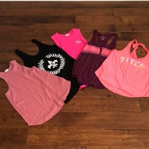 5 tank tops for the price of 1! VS PINK, AE, A&F